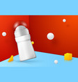 3d realistic abstract scene with deodorant vector image