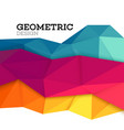 Abstract geometric triangle low poly set vector image vector image