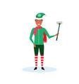 african american man christmas elf santa helper vector image