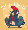 aggressively tuned cock or rooster vector image vector image