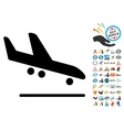Airplane Arrival Icon with 2017 Year Bonus vector image vector image