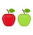 apples isolated on white vector image