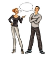 Arguing people isolated on white vector image vector image