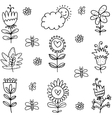 art of spring with hand draw vector image vector image