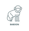 baboon line icon linear concept outline vector image