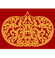 Beautiful Thai art pattern on red background vector image vector image