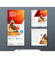 bifold brochure design red orange template for vector image vector image
