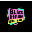 Black friday sale sticker or banner special offer vector image