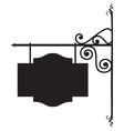 Blank board sign - hotel restaurant sign vector image vector image