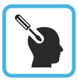 Brain Tool Icon In a Frame vector image