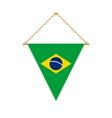 brazilian triangle flag hanging vector image vector image