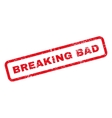 Breaking Bad Text Rubber Stamp vector image vector image
