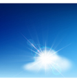 bright blue sky vector image vector image