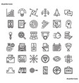 business element outline icons perfect pixel vector image vector image