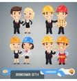 Businessmen Cartoon Characters Set14 vector image