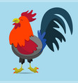 cartoon rooster vector image