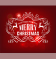 christmas and new year typography red background vector image vector image