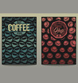 coffee shop posters 1 vector image