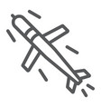 cruise missile line icon army and force military vector image vector image
