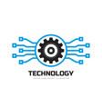 digital tech - business logo template vector image vector image