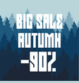 drawing of a big autumn sale a 90 percent vector image vector image
