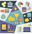 Financial icons flat set vector image
