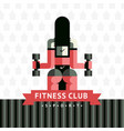 fitness sticker logo vector image vector image