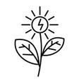 flower solar energy icon outline style vector image vector image