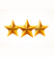 golden stars background blurred beautiful golden vector image vector image