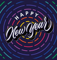 happy new year lettering typography poster vector image vector image