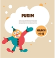 happy Purim Jewish holiday vector image