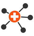health care links flat icon vector image