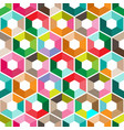 hexagon with color triangles abstract seamless vector image vector image