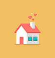 house icon with hearts vector image