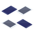 isometric set of tablets isolated vector image