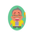 laughing smiling and happy avatar of little vector image vector image