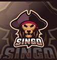 lion mascot esport logo vector image vector image