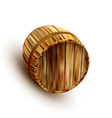lying retro brown wooden beer keg barrel vector image vector image