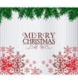 merry christmas leaves and snowflakes design vector image vector image