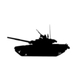 Military tank silhouette Howitzer icon vector image