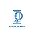 mobile search logo vector image