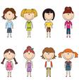 Modern trendy girls vector image vector image