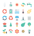 Nature and Ecology Colored Icons 1 vector image vector image