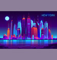 night city futuristic landscape background vector image