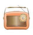 old radio icon realistic style vector image vector image