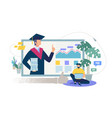 online education service flat concept vector image vector image