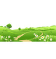 outdoor landscape isolated vector image vector image