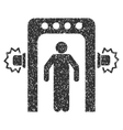 Passenger Screening Icon Rubber Stamp vector image vector image