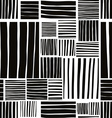 Patched lines seamless pattern black and white vector image vector image