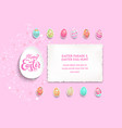 pink template poster eggs vector image vector image